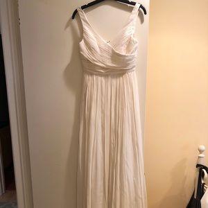 J Crew Silk Chiffon Heidi Gown Ivory Size 2